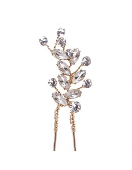 Horquilla ceremonia dorada con cristal
