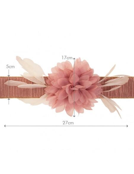 cinturón Eliette rosa nude medidas