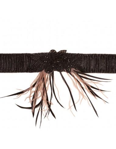 Cinturón Camille Negro/Tostado