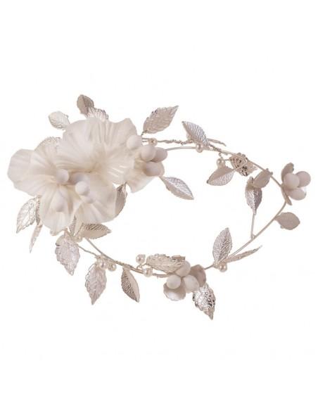 Tocado-joya-marfil-plata-flores-pistilos