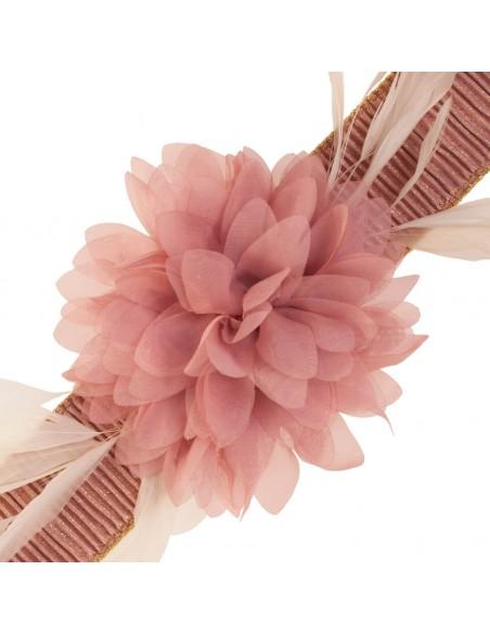 detalle cinturón Eliette rosa nude