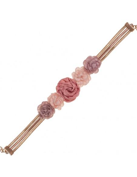 detalle cinturón Brigitte rosa oro