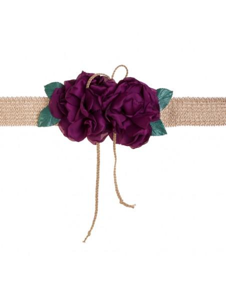 cinturón de fiesta rosana en color buganvilla