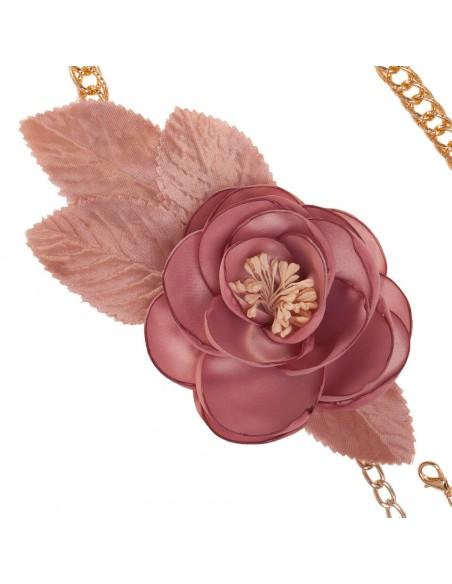 detalle cinturón de fiesta Vera en color rosa