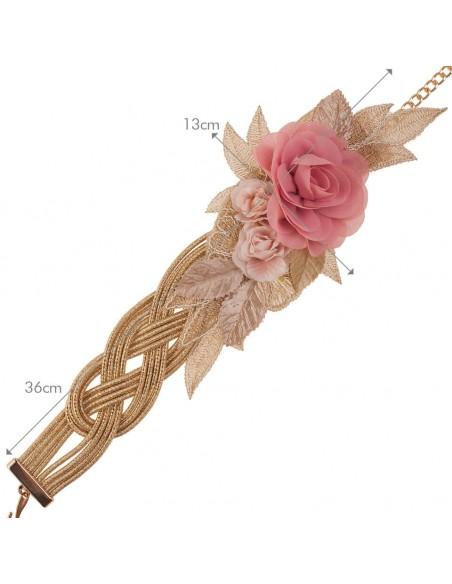 medidas cinturón alma rosa oro