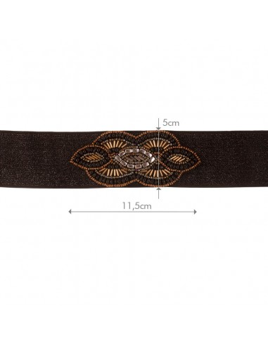 Cinturón Xana Negro/Oro Viejo