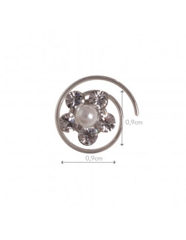 Espiral Flor Plata