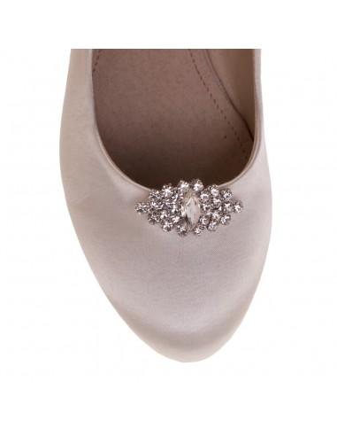 Adorno de zapato Alsa Plata