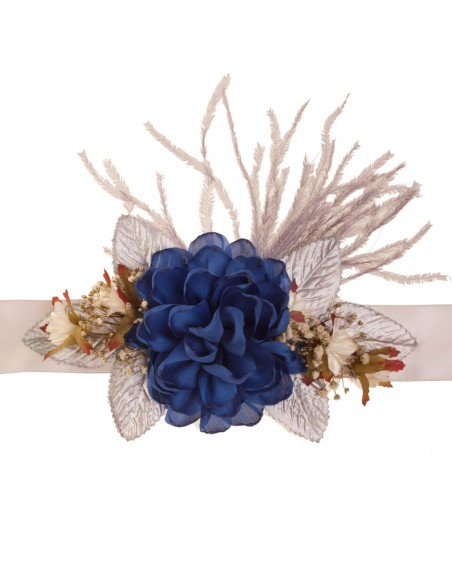 cinturón vizenza invitada azulón/oro