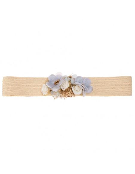 Cinturón flores comunión  Ivett Marfil/Celeste